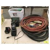 Hose, B&D charger, misc