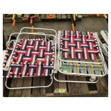 Lawn chairs, qty 6