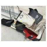 Lawn chairs, Lawn mower grass bags, misc