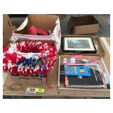 School supplies, holiday decorations, misc