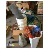 Hose, ext cord, misc