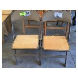 Pair of kids folding chairs