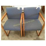 Pair of office chairs