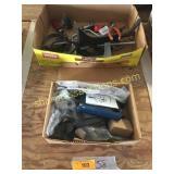Clamps, door lock set, hitch pin, tools