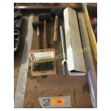 Metal stamps, mallets, tools