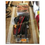 Cooking magazines, kitchen utensils