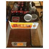 Coca Cola bottles/cups