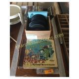Childrens books, records, dvd