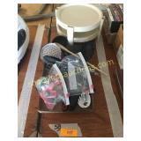 Plastic tray, kitchen utensils