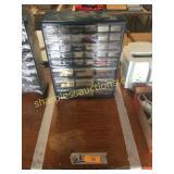 Hardware organizer w/hardware