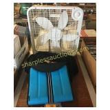 Box fan, laptop bags