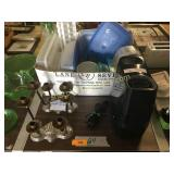 Honeywell humidifier, candle sticks, plasticware