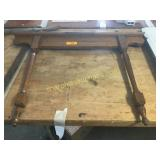 Wood mirror holder