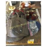 HyVee wine bags, mugs, flatware, misc