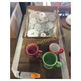 Childrens tea set, mugs