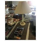 Ultra headphones, table lamp