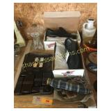 Mens Redwing shoes, mens travel kit, misc