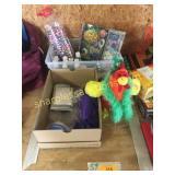 Craft supplies, toy chicken, craft supplies