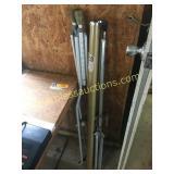 Crutches, movie screen