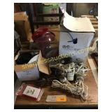 Keurig coffee maker, patch cable, hot air popper,