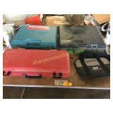 Makita drills(2), bags, cases
