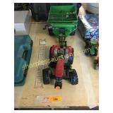 Case toy tractor and wagon