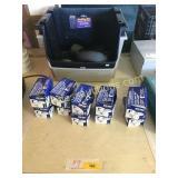 Powder fasteners, stacking bins