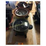 Slo cookers(2), Presto fryer
