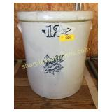 """Monmouth Pottery co """"12"""" crock"""