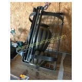 Metal overhead pan rack, misc