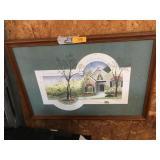 Signed framed picture