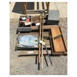 Kraut cutters, yard tools, misc