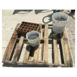 Buckets of nails, crate organizer
