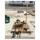Rakes, Poulan trimmer, yard tools
