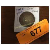 1989s Toned Proof Nickel