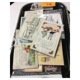Trayfull of old post cards