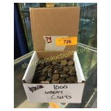 Box of 1000 Wheat Cents