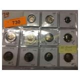 11 Proof coins