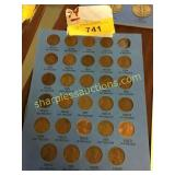 Sheet of Lincoln Wheat Cents 1930