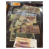 Collection of foreign notes