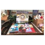 Lighted nativity, large holiday gift bags