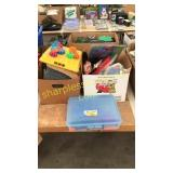 Boxes of toys and miscellaneous