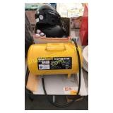 Helmets, central pneumatic portable air tank