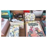 Picture, storage boxes, misc