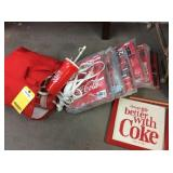Coca-Cola Cups, Signs, Cooler & More