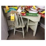 Antique Wooden Chair & Table