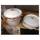 Porcelain Pots W/Lids
