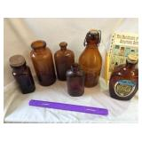 (6) Brown Bottles