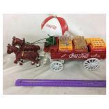 Die-Cast Coca-Cola Horse Drawn Wagon