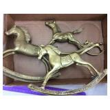 (4) Brass Rocking Horses